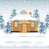 Camera in legno royalty illustrazione gratis