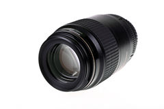 Camera lens 100mm. 100mm  Camera lens isolated on white background Royalty Free Stock Photography
