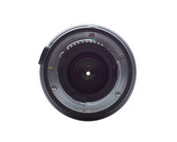 Camera lens. The camera lens on a white background, isolation Royalty Free Stock Image