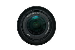Camera lens. Isolated on the white Royalty Free Stock Photo