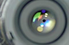 Camera lens. Light refraction through a camera lens Royalty Free Stock Photo