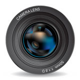 Camera lens. Zoom objective optical Royalty Free Stock Photo