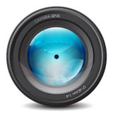 Camera lens. Zoom objective optical Stock Images