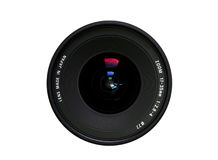 Camera lens. With reflection (zoom wide angle Stock Photography