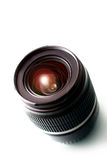 Camera lens. Isolated on white stock photo