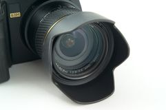Camera lens. Camera lens on the whte background Stock Photography