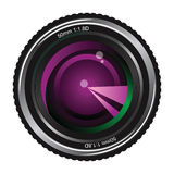 Camera lens. Over white background royalty free illustration