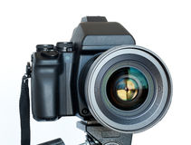 Camera with the lens Royalty Free Stock Image