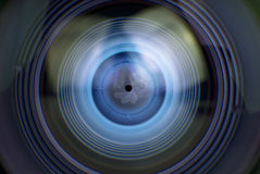 Camera lens. A abstract closeup  Camera lens Royalty Free Stock Image