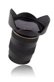 Camera lens. Studio shot of a camera lens Stock Photo