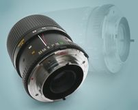 Camera lens. With macro and zoom functionality royalty free stock photos