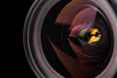 Camera lens. Closeup, close-up Royalty Free Stock Photography