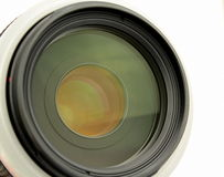 Camera lens. Close up  camera lens on white background Stock Images