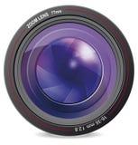 Camera lens. Illustration of camera lens vector. EPS-10 Stock Photography