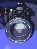 Camera lens. Close up illustration shot of camera and lens Stock Images