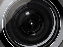 Camera lens. Close up view of photo camera lens background Royalty Free Stock Photos