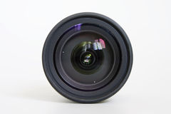 Camera lens. A view through the camera lens Stock Image