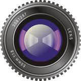 Camera Lens. Illustration of the front view of a film camera lens Royalty Free Stock Photography