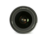 Camera lens. Front close up of a camera lens Royalty Free Stock Photography