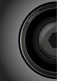 Camera lens. Half 50 mm camera lens Stock Photography