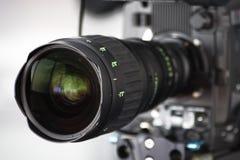 Camera lens. High definition hd cam camera lens close up Stock Photos