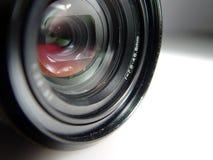 Camera lens. Close image of a camera lens Stock Photos