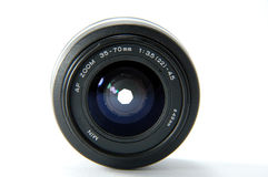Camera lens. A slr camera lens Royalty Free Stock Images