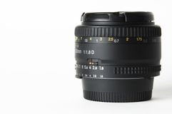 Camera Lens. A 50mm lens for a well known brand of camera Royalty Free Stock Photography