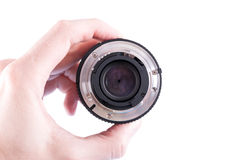 Camera lens back Stock Photo