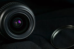 Camera lens background Stock Photography
