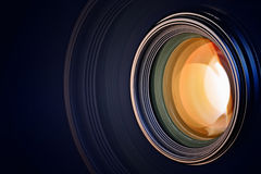 Camera lens background Stock Photo