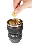 Camera lens bank Royalty Free Stock Photography