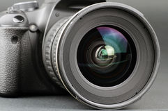 Camera lens and body Stock Photos
