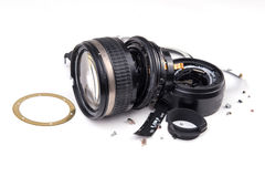Camera lens broken Stock Image