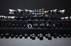 Camera and lens,Canon Stock Image