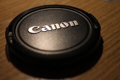Camera lens cap Royalty Free Stock Images