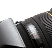 Camera lens close-up Stock Image