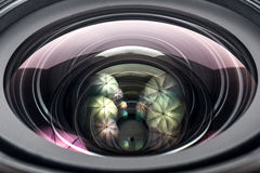 Camera Lens close up glass isolated Stock Photo