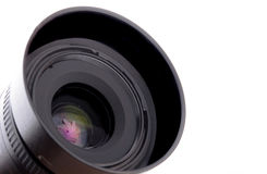 Camera lens close up isolated Royalty Free Stock Photography