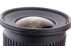 Camera lens close up isolated Royalty Free Stock Photos