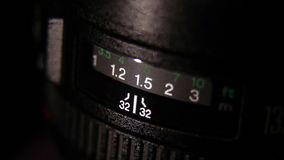 Camera lens. Close-up stock video footage