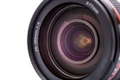 Camera lens. Close up photo Royalty Free Stock Image