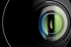 Camera lens. Close-up photo of camera zoom lens Royalty Free Stock Photos