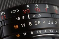 Camera lens close-up Stock Photos