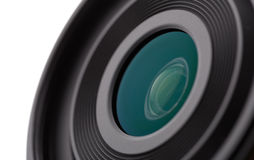 Camera lens close-up Stock Images
