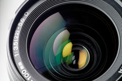 Camera lens closeup. This sample is from an SLR (single lens reflex Stock Image