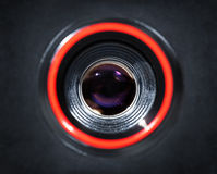 Camera lens closeup Stock Image