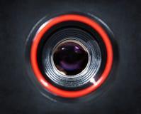 Camera lens closeup Stock Image