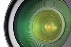 Camera lens closeup Stock Photos