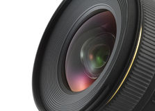 Camera lens closeup. With clipping path Royalty Free Stock Photography